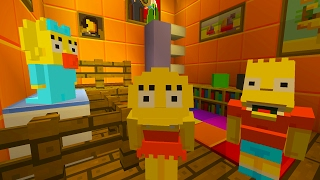 Bart And Lisa Simpson Babysits Maggie   The Simpsons   Minecraft Xbox [29]