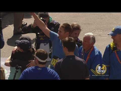 Bombing Survivor Patrick Downes Completes Boston Marathon With Prosthetic Leg