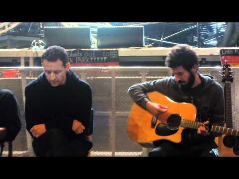 Chester sings The Messenger acoustic - LPU Summit Hamburg Germany (1080p) Music Videos