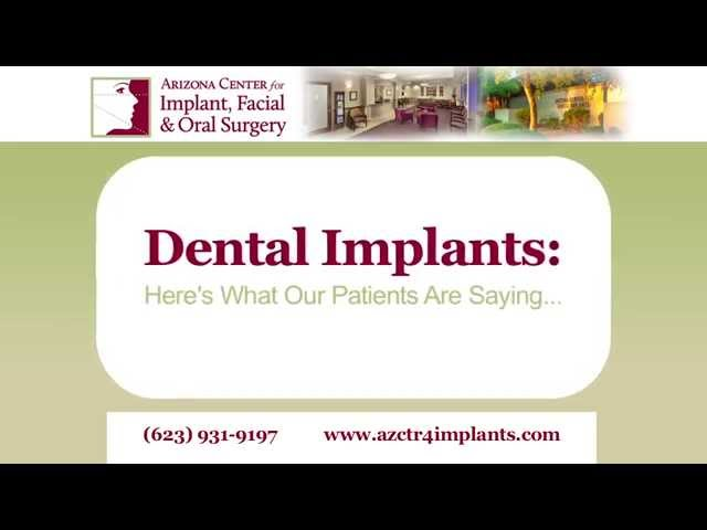 "Dental implants: ""I can chew on both sides of my mouth again!"""