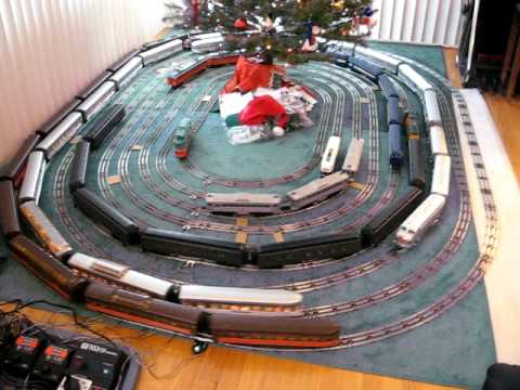 Dec. 2007 - Nine O Gauge Trains Around The Christmas Tree