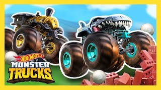 BIGGEST CRASHES AND SMASHES | Monster Trucks | Hot Wheels