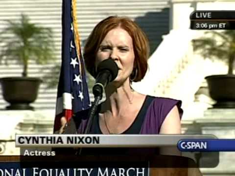 National Equality March Rally: Cynthia Nixon speaks