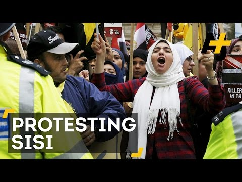Egypt's President Sisi Is In London, Cue The Protesters