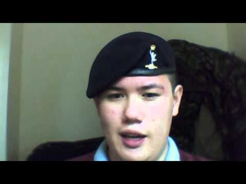 Army beret shaved shaped