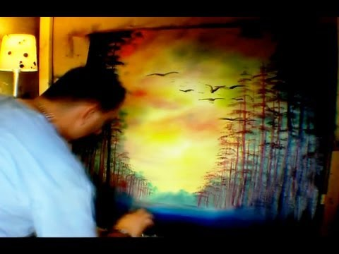 Oil Painting - Large Landscape Sunset - Paint Along Video by Jarduli