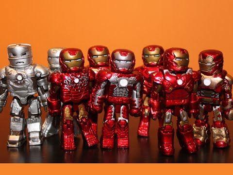 10 IRON MAN SET! - MINIMATES SET REVIEW!!!