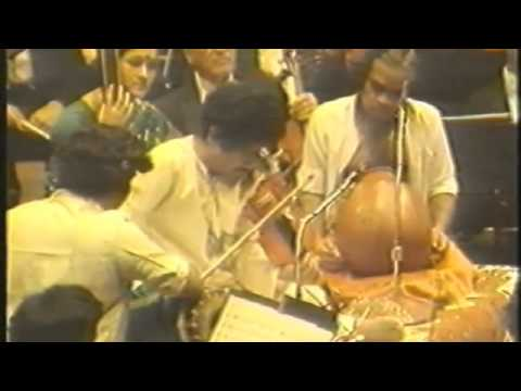 L. Subramaniam with Maestro Zubin Mehta and the New York Philharmonic