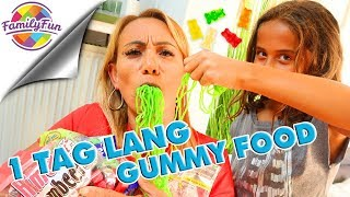 1 TAG LANG GUMMY FOOD Essen Challenge - Family Fun
