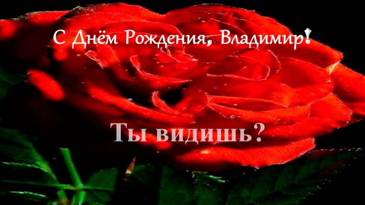 Поздравление с днем рождения имя владимир