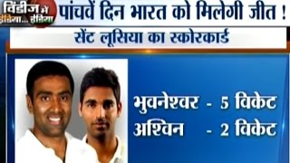 India vs West Indies, 3rd Test Day-4 Highlights: Bhuvneshwar's 5 Wickets Put India on Driver Seat