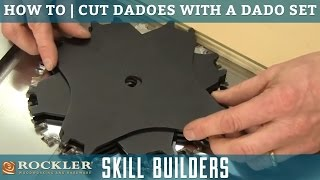 How to Cut Dadoes with a Table Saw and Dado Set | Rockler Skill Builders
