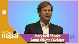 Jonty Neil Rhodes | South African Cricketer | Good Morning Nepal - 20 February 2019