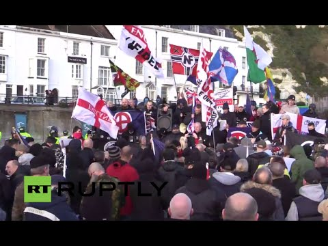 LIVE: Far right groups and antifa counter demos set to hit Dover