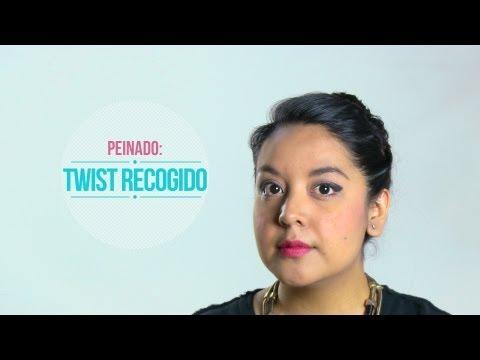 Peinados FACILES Chongo con Twist Recogido