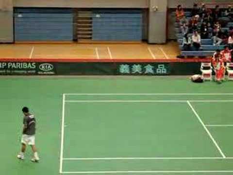 Davis Cup 4/8/2007 Yen-Hsun LU (盧彥勳, Taiwan) vs Xin-Yuan YU
