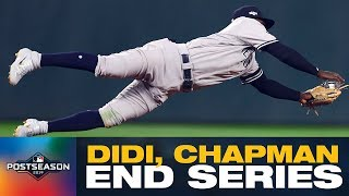 Didi Gregorius makes AMAZING diving stop, Aroldis Chapman shuts door on Twins as Yankees move on