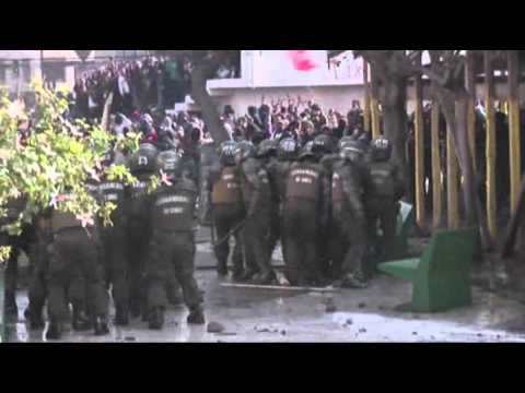 Raw: Students Clash With Police in Chile
