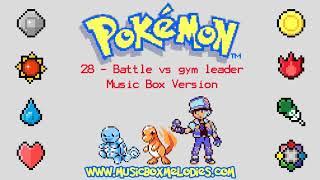 Battle vs gym leader (Music box version) - Pokemon red/blue OST