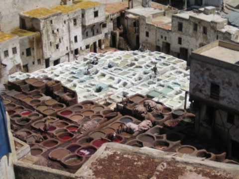 Marocco Fès – Medina 2/3 (La scuola – I conciatori di pelle – I tessitori)