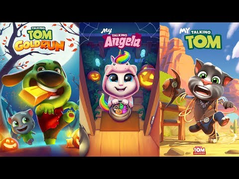 My Talking angela Halloween - My Talking Tom - Talking Tom Gold Run Candy Side