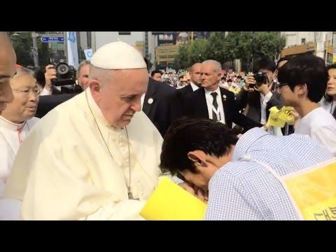 프란치스코 교황(Pope Francis), 세월호 단식 34일 김영오씨 위로