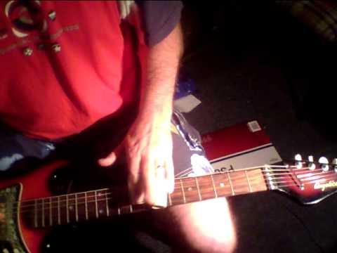 Lap steel with two slides - double slide technique, Gold foil pickups