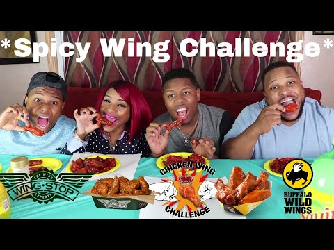 BW3 Blazin and Wing Stop Atomic Wing Challenge  ⚠ HOT Stuff!