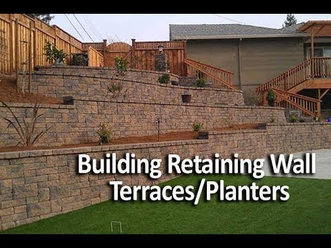 Building Terraced  Retaining Walls or Planters