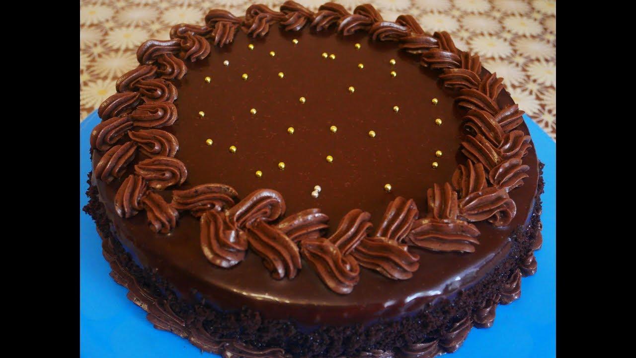 Шоколадный торт с шоколадным кремом фото рецепт