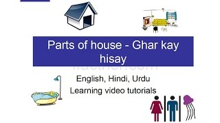 ENGLISH through HINDI : learning house parts (in English)