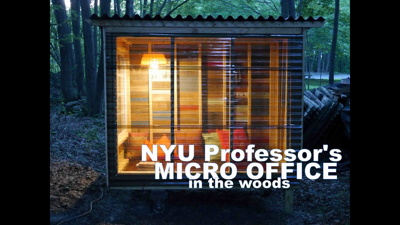 Nyu professor 39 s tiny micro cabin study pod in the woods for Micro mini houses