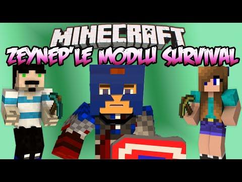 Minecraft : Zeynep'le Modlu Survival - Bölüm 12 - KAPTAN AMERİKA ile NETHER !