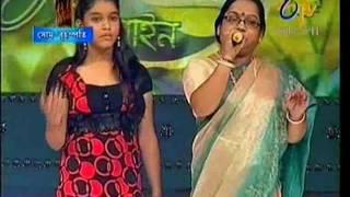 [ETV Bangla] Raktima Chakraborty with her mother(Purnima Chakraborty)
