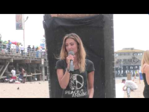 Katie Cleary speaking at NARD and introduced by Elaine Hendrix