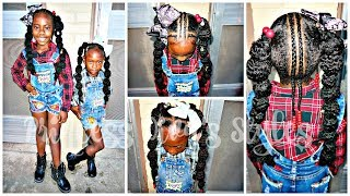 Girls Quick & Easy Hairstyle | Children's Natural Hair Care