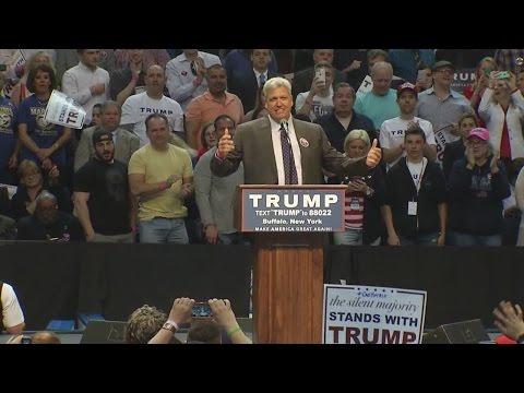 Rex Ryan introduces candidate Donald Trump