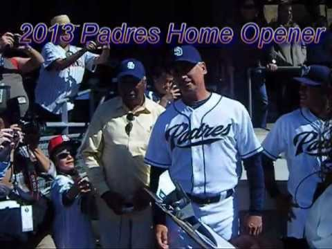 2013 Padres Home Opener Starting Line Up