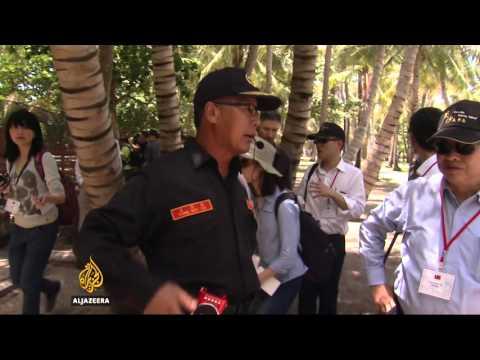 Taiwan shows off Taiping Island amid sea dispute