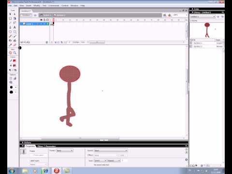 flash dersleri yürüyen adam animasyonu