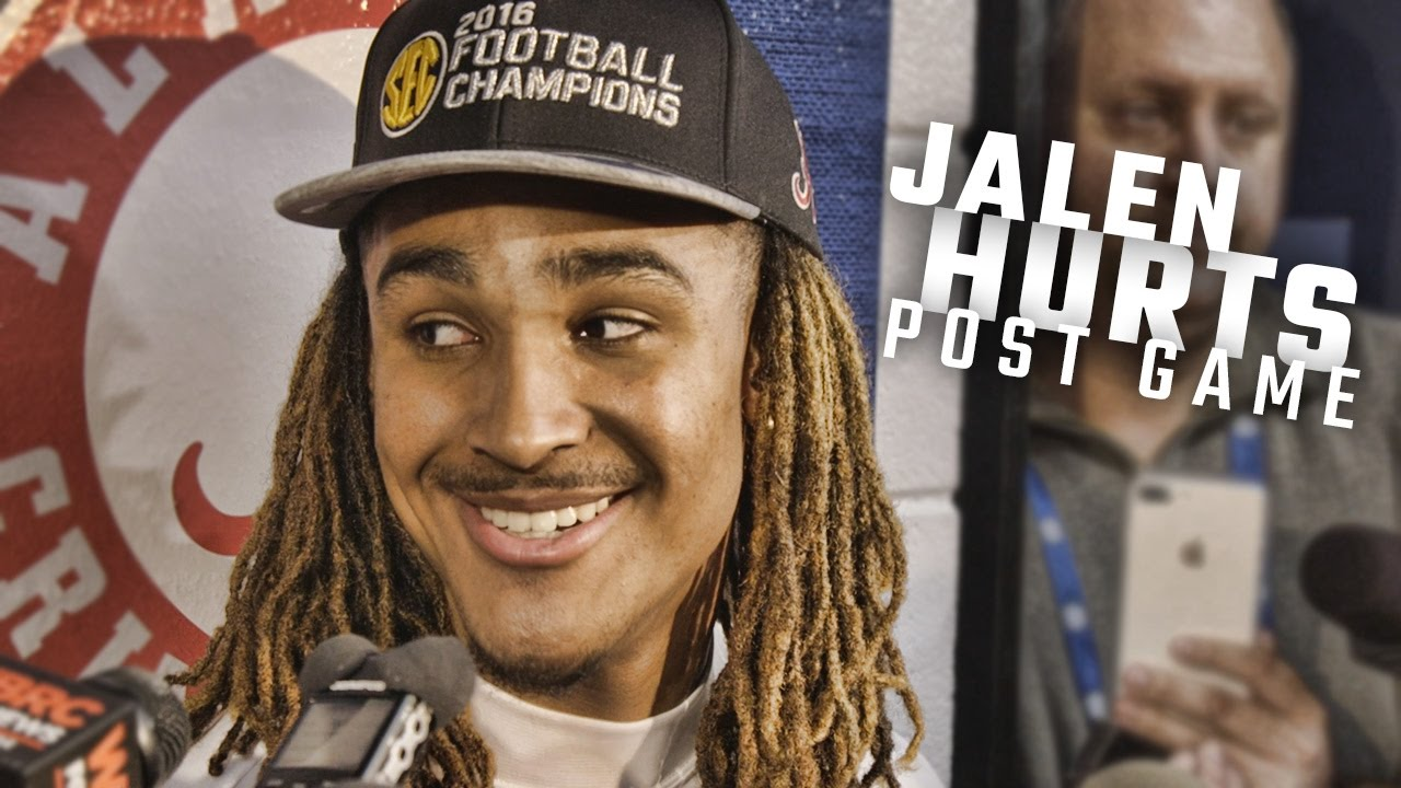 Hear what Jalen Hurts had to say after winning the SEC Championship
