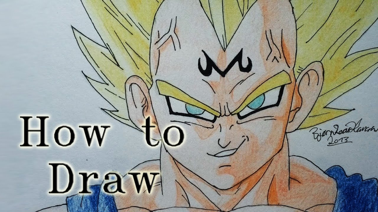 Dragon Ball z Majin Vegeta Drawing How to Draw Majin Vegeta From