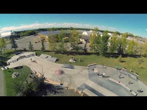 Olds, Alberta Skatepark Aerial Video
