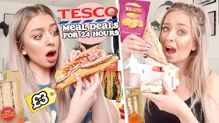 24 HOURS eating ONLY Tesco MEAL DEALS!