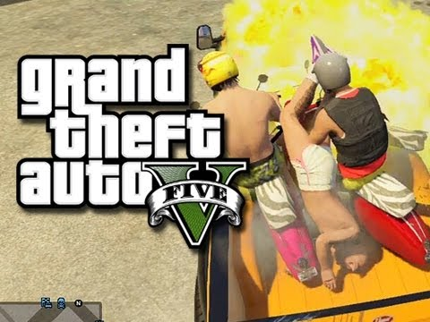 GTA 5 - Faggio Fun! (GTA 5 Glitches, Ramps, and Funny Moments)