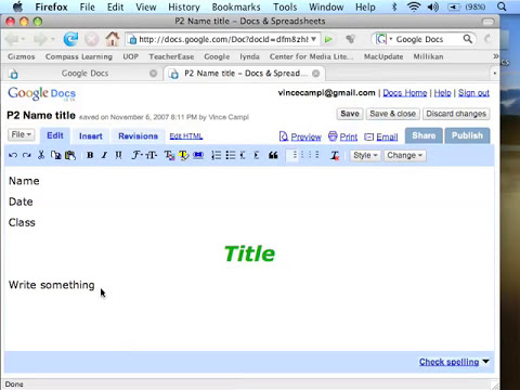 Google Docs 1 Getting Started