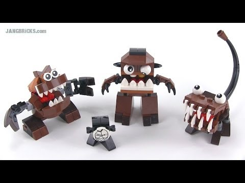 LEGO Mixels Series 2 Fang Gang Chomly. Gobba. & Jawg reviewed!