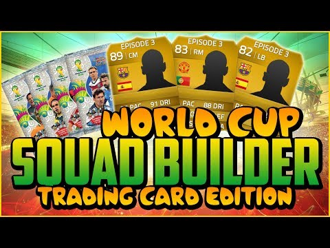 WORLD CUP CARDS SQUAD BUILDER! w/ INIESTA!   FIFA 14 Ultimate Team