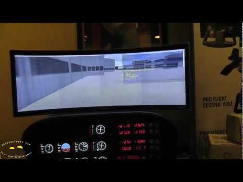 MadCatz Saitek ProFlight Cessna Flight Simulator hands-on @CES 2012