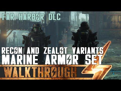 Full Marine Armor Set in Fallout 4: Far Harbor (Including Recon & Zealot Variants)